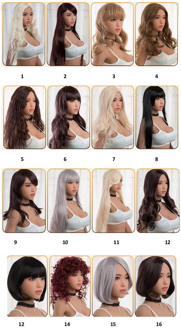 výběr vlasů sex doll