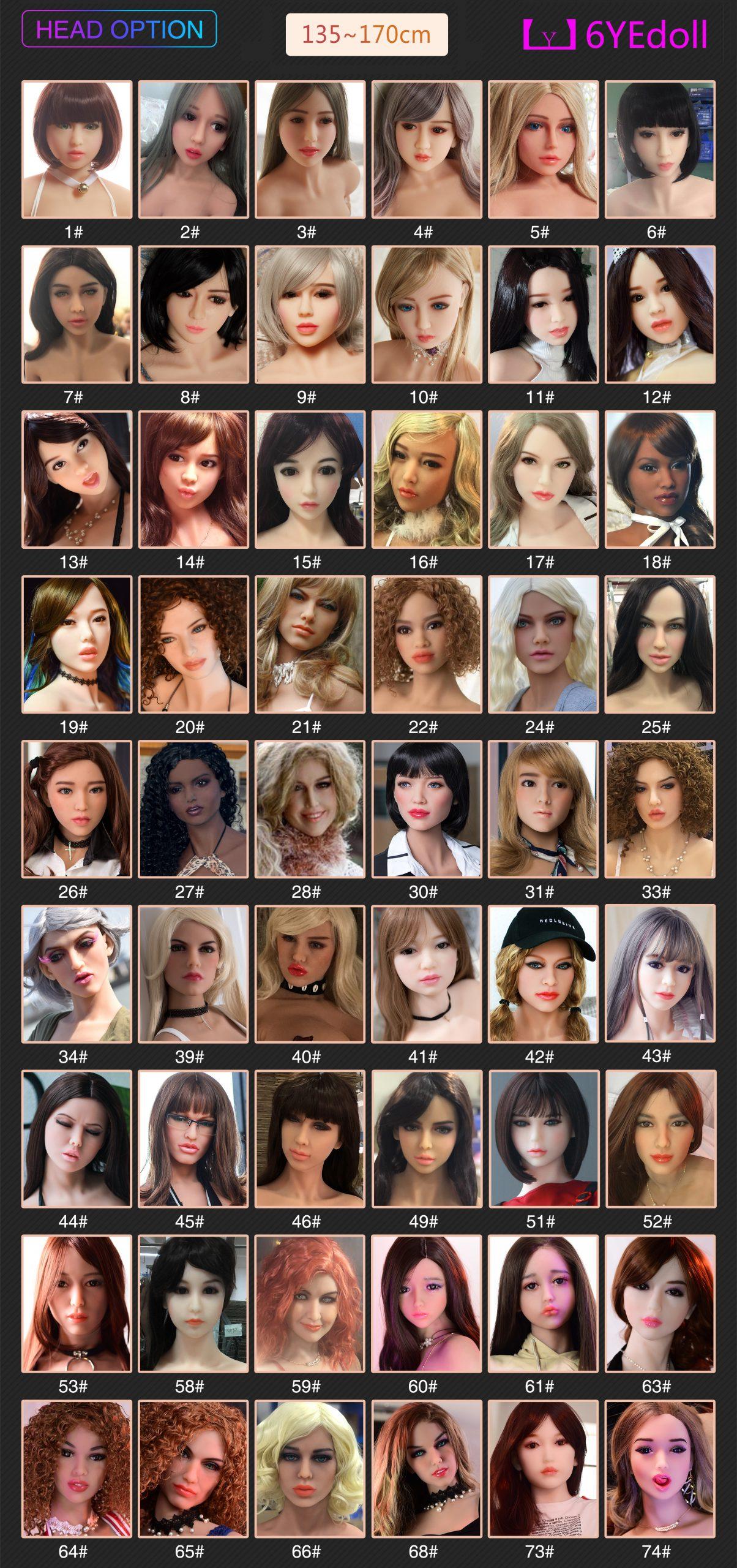sex dolls obličeje