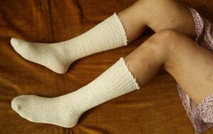 Socken eines armen Mädchens