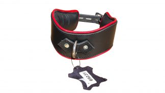 wide leather BDSM collar thick leather