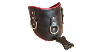 BDSM collar wide for heavy dungeon, veal and cowhide