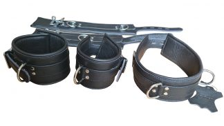 men's handcuffs, legs, collar made of genuine leather