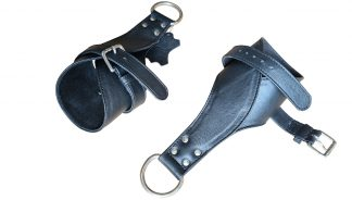 Fine leather handcuffs, hands and feet