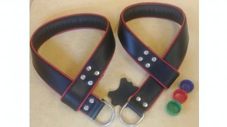 hanging strap leather handcuffs size uni
