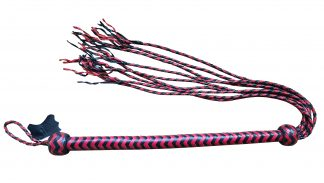 whip long handle 9 tails red black