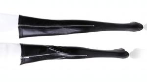 glänzende Strümpfe mit Reißverschluss aus Elastan