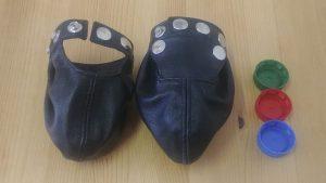 Lederballtasche schwarz BD