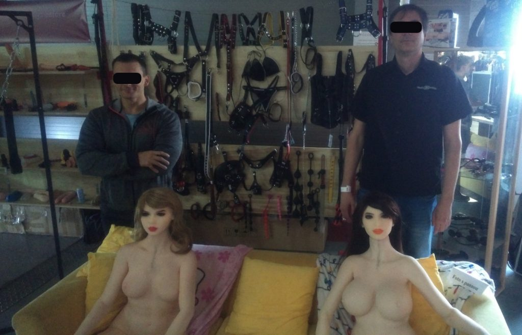 Sex doll body guards Strong Tony and Fast Jim