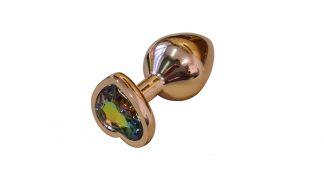 Anal pin golden gem heart
