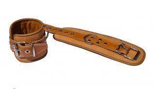 leather handcuffs brown